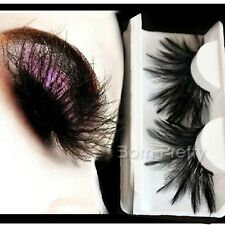 Feder Muster künstlich Falsche Wimpern Lang Curly False Eyelash Make Up 19727