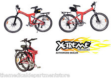 X-Treme Scooter NEW - X-Cursion Folding Electric Mountain Bike - Red