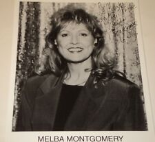 MELBA MONTGOMERY / COUNTRY SINGER /    8 X 10  B&W  AUTOGRAPHED  PHOTO