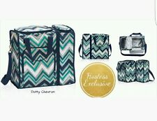 THIRTY ONE On the Double Set Thermal Dotty Chevron Insulated Tote Bag