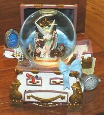 Disney Tinker-Bell The Hidden Place Jewelry Chest Wind Up Musical Snow Globe!