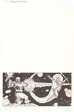 Terrax vs. Cosmic Begins - Herald Nova - 2007 Signed art by Tony Perna
