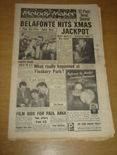 MELODY MAKER 1957 DECEMBER 14 CHRISTMAS ISSUE HARRY BELAFONTE FINSBURY PARK +