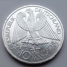 1987 Silver German Berlin 10 Mark Coin