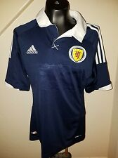 Adidas SCOTLAND SCOTTISH HOME FOOTBALL SOCCER JERSEY Tartan Army medium 2011-13