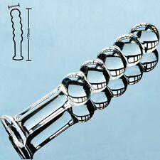 Anal Plug Butt Plug Dildo 5 Balls pyrex Glass Prostate Massager - 30mm