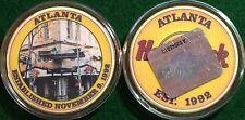 Hard Rock Cafe ONLINE 2002 ATLANTA 11/9/92 CASINO CHIP Mint w/Plastic Case Poker