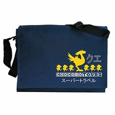 Chocobo Tours Final Fantasy inspired Navy Blue Messenger Shoulder Bag