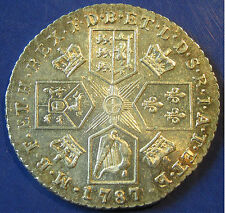 1787 no hearts 1/- George III silver Shilling in a lovely grade