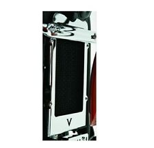 KAWASAKI VN900 CUSTOM CHROME RADIATOR COVER - FITS 2007 - 2016 VN900 - BRAND NEW