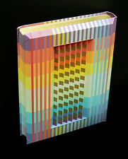 Yaacov AGAM Authentic Color 3D Polymorph Hand Signed Op Art Sculpture Torah Book