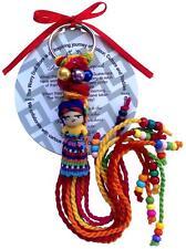 Guatemalan Worry Dolls Girl Keyring Handmade in Guatemala by Mayan Artisans