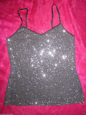 Nwt Express Mega Sparkle Taupe Sequin Bling Camisole Club Blouse Tank Top S
