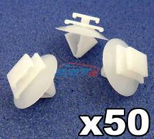 50x Peugeot Side Moulding Clips / Rubstrip Plastic Trim Clips / Fastener Clips