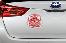 All Seeing Eye Pyramid Car Decal Bumper Stickers 10cm x 10cm