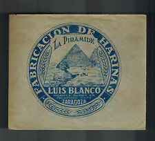 1938 Zaragoza Spain Advertising Cover to San Sebastian Luis Blanco Harina