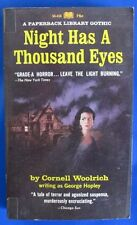 1967 NIGHT HAS A THOUSAND EYES by Cornell Woolrich 1st Paperback VG