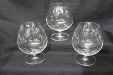 Set of 3 Riedel Crystal Vinum Brandy Snifter or Congac Glasses, Etched on Base