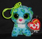 TY BEANIE BOOS - LEONA the LEOPARD KEY CLIP - MINT with MINT TAGS