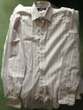 Pendleton london White & Pink stripe long sleeve shirt Size Medium