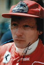 Niki Lauda Hand Signed F1 Parmalat Racing Brabham 12x8 Photo.