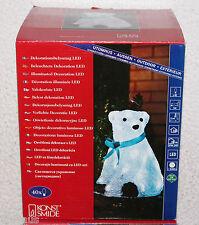 Konstsmide 6123-203 LED Acryl Eisbär 2,4W Dekoration Außen Winter Garten Innen