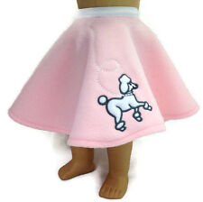 "Pink Poodle Skirt made for 18"" American Girl Doll Clothes"