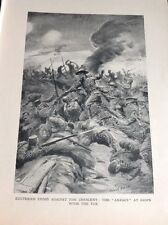 R3 Ephemera 1918 Book Plate The Anzacs Charge The Turks