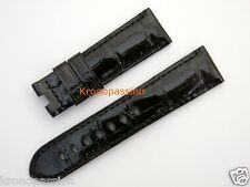 Panerai Black Alligator Strap for Luminor 40mm New !