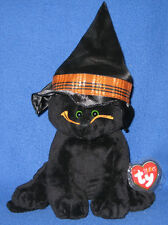 MERLIN the CAT - TY PLUFFIES - MINT with MINT TAGS PRICE STICKER RESIDUE ON BACK