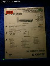 Sony Service Manual SLV E920VC /E820B /E870EG /UX /NP Video (#4081)
