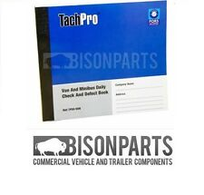 TACHPRO 50 PAGE DRIVER DAILY DUPLICATE DEFECT CHECK BOOK VAN & MINIBUS - 100212