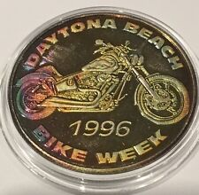 1996 Daytona Beach 55th Anniversary Bike Week 1 Troy Oz .999 Fine Silver Coin Ag
