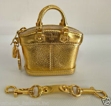Louis Vuitton Authentic LV Mini Lockit Keyring Bag Charm Suhali Gold Collectible