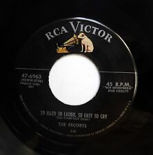 ESCORTS 45 So hard to laugh, so easy to cry / Lonely man VG++ RCA M- Doowop e908