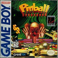 Pinball Fantasies (Nintendo Game Boy, 1995) with Box & Manual