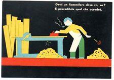 ENPI INFORTUNI FUTURISMO RAZIONALISMO ALTEROCCA 1938 LEGNO FALEGNAME