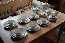 Altes Kaffee und Tee Service Kaestner Saxonia GDR Russisch 6 Personen