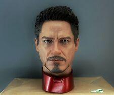 In Stock 1/4 Tony Stark Head Sculpt Body Black Widow Suit MK 45 43 Hot Toys T800