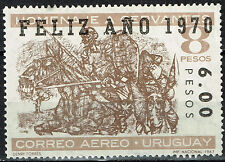 Uruguay Famous Spanish Writer Cervantes Don Quixote stamp 1970 MNH