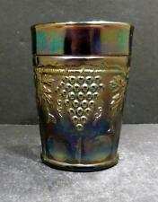 Northwood Carnival Grape and Cable Amethyst Tumbler - MINT (B)