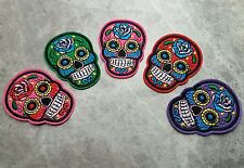 SKULL PATCHES IRON ON FLOWER GOTHIC COLLECTION