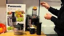 Panasonic MJ-DJ01S Juicer High Nutrient Extraction Stainless Steel Sliver