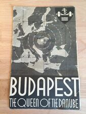 VTG 1935 Budapest Hungary QUEEN OF THE DANUBE Travel Tourism Brochure