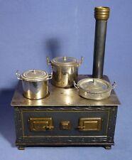 Antik BING Puppenherd Blech Puppenhaus Puppenküche 1900 vintage toy stove D161
