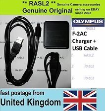 Genuine Original Olympus F-2AC Charger + USB Cable X-960 MJU Tough TG-620 TG-830