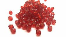 25g - 6mm Dark Red Acrylic Plastic Faceted Bicone Beads - A5309