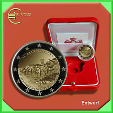 """2 Euro € Gedenkmünze Coins Monaco 2015 """" Bau des Schlosses """" PP/polierte Platte"""
