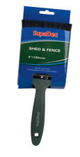 """Shed & Fence Garden Wood Timber Creosote Paint Brush 4"""" ( 100mm )"""