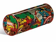 MARVEL RETRO COLLAGE ZIPPED PENCIL CASE NEW OFFICIAL MERCHANDISE